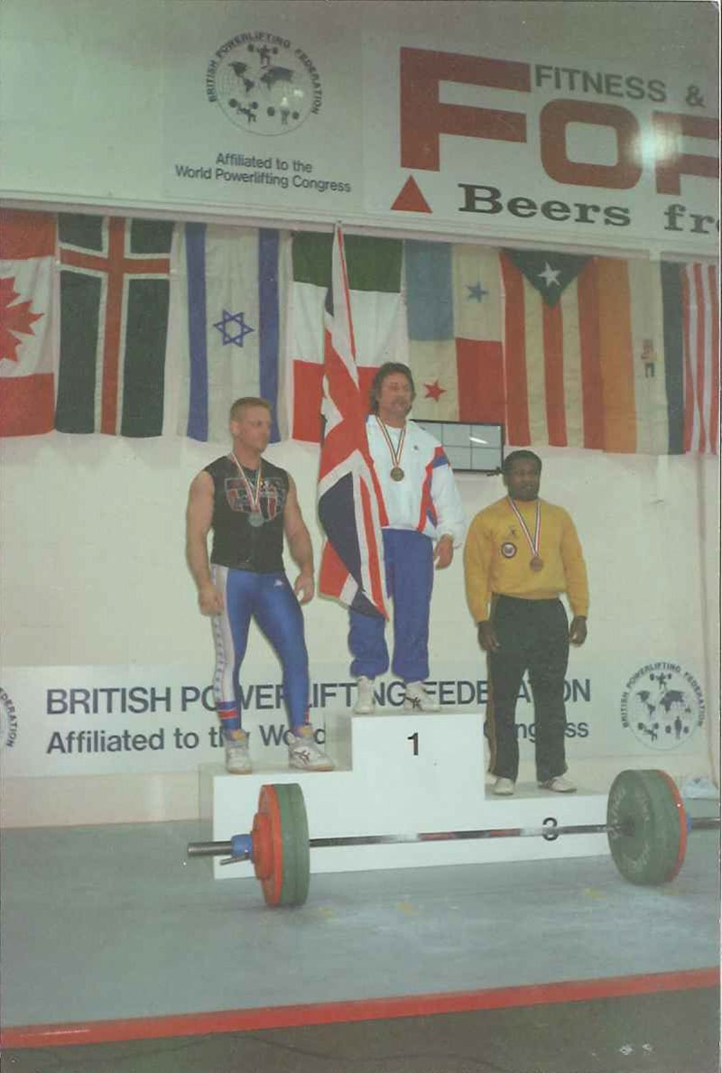 Robyn Brown on the podium at the British Powerlifting Federation Championships
